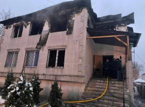 Ukraina: pożar w domu opieki w Charkowie
