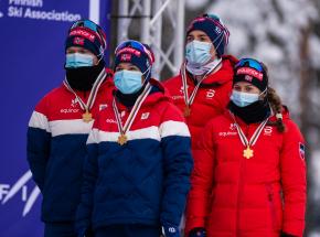 Biegi narciarskie - MŚ U23: Norwegia najlepsza w sztafecie mieszanej, Polska daleko