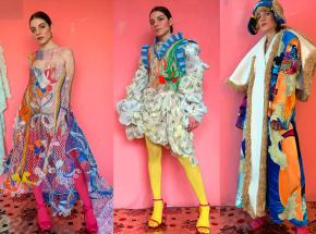 Przewody elektryczne przekształcane w wykwintne sukienki