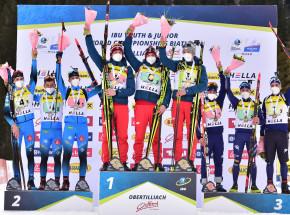 Biathlon - MŚJ: złoty medal w sztafecie!