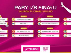 Siatkówka: poznaliśmy pary 1/8 finału TAURON Pucharu Polski