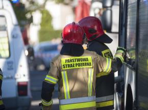 Kraków: pożar wagonów PKP Intercity