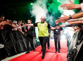 Dart - Premier League:  pokaz siły van Gerwena