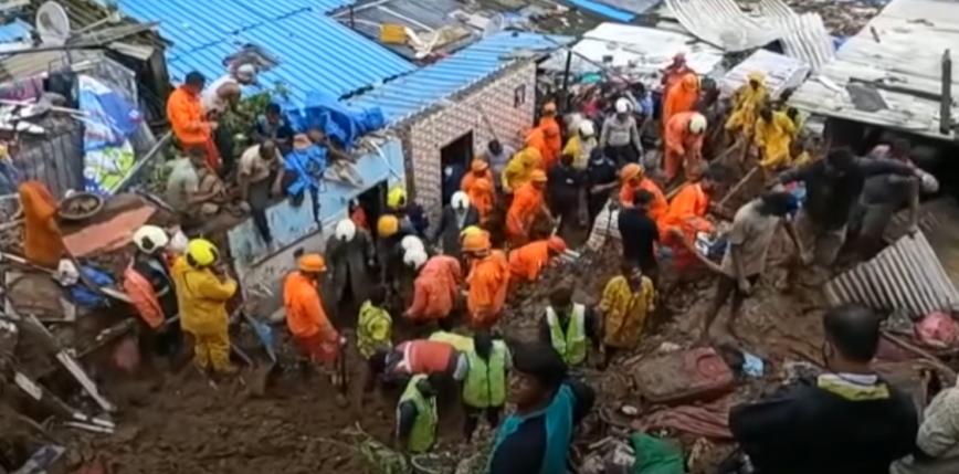Indie: 34 zabitych po osunięciu się ziemi w wyniku ulewy