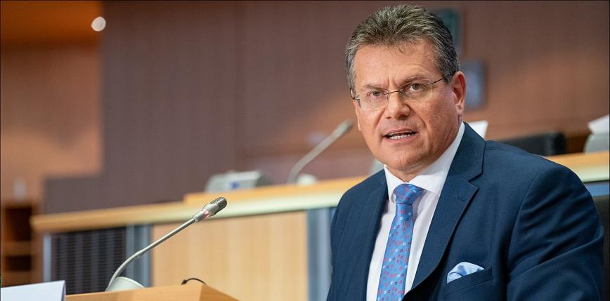 Maroš Šefčovič odpowiadał na pytania polskich senatorów