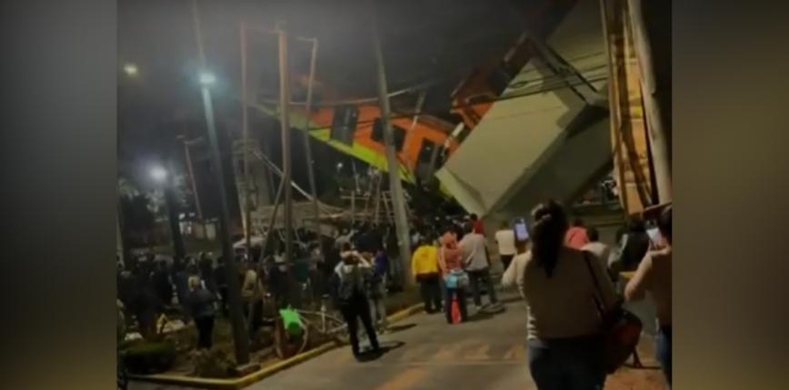 Meksyk: zawalił się wiadukt metra. Nie żyją co najmniej 24 osoby