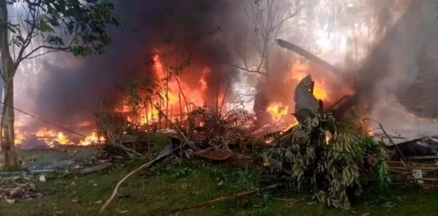 Filipiny: katastrofa samolotu wojskowego. Zginęło co najmniej 45 osób