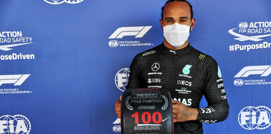 Formuła 1: Lewis Hamilton uzyskuje swoje setne pole position podczas GP Hiszpanii