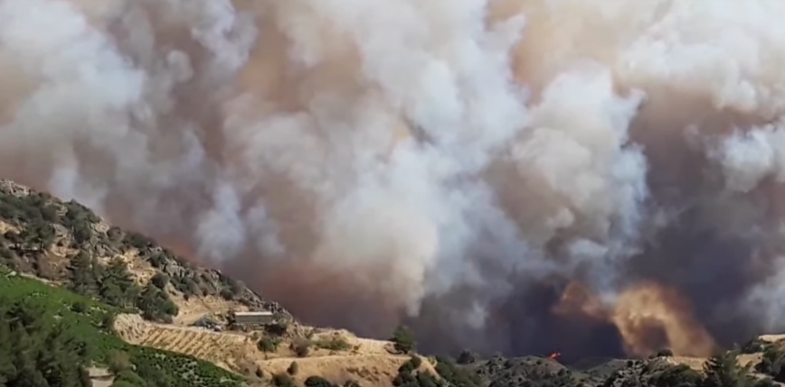 Cypr: pożar lasu