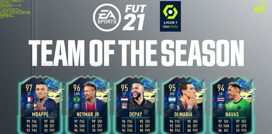 FIFA 21 TOTS: Drużyna Sezonu z Ligue 1 - Neymar znowu w cieniu?