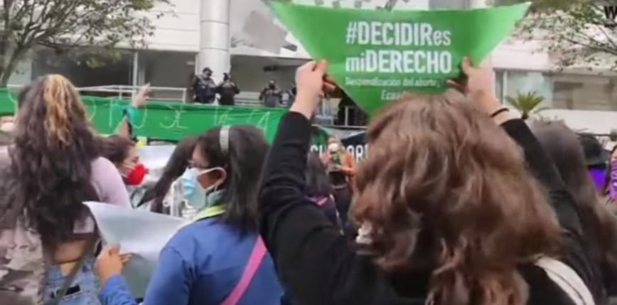 Ekwador dekryminalizuje aborcję, gdy ciąża jest wynikiem gwałtu