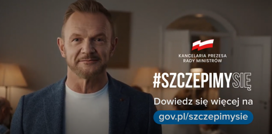 """Spot akcji ,,Szczepimy Się"""" z Cezarym Pazurą - już w sieci"""