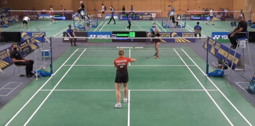 Badminton - ME U17: Podedworny w półfinale!