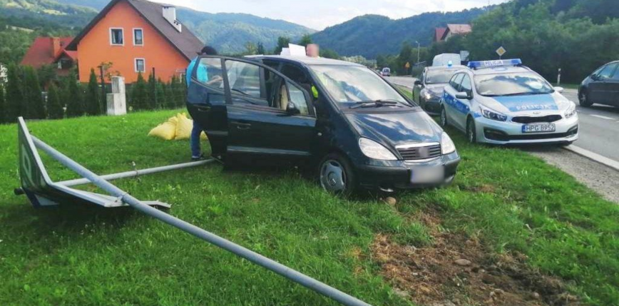 Małopolska: mężczyzna potrącił policjantów chcących przeprowadzić kontrolę
