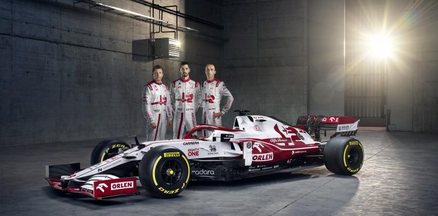Formuła 1: prezentacja bolidu Alfa Romeo Racing Orlen na sezon 2021