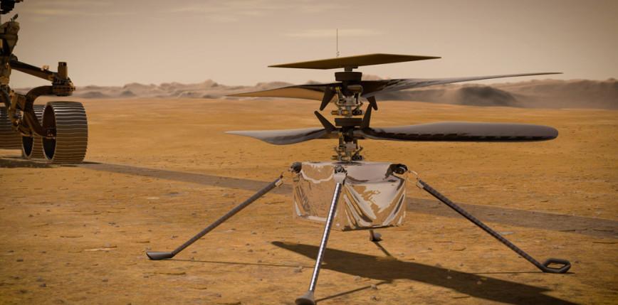 Ingenuity stanął na powierzchni Marsa