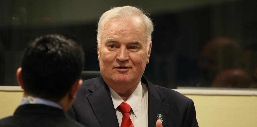 Ratko Mladić, były przywódca armii bośniackich Serbów, skazany na dożywocie