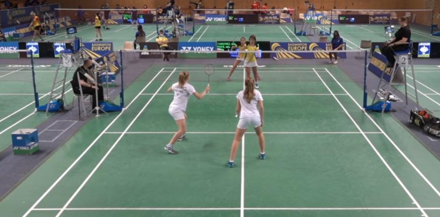 Badminton - ME U17: wygrana dublerów z Chorwacją