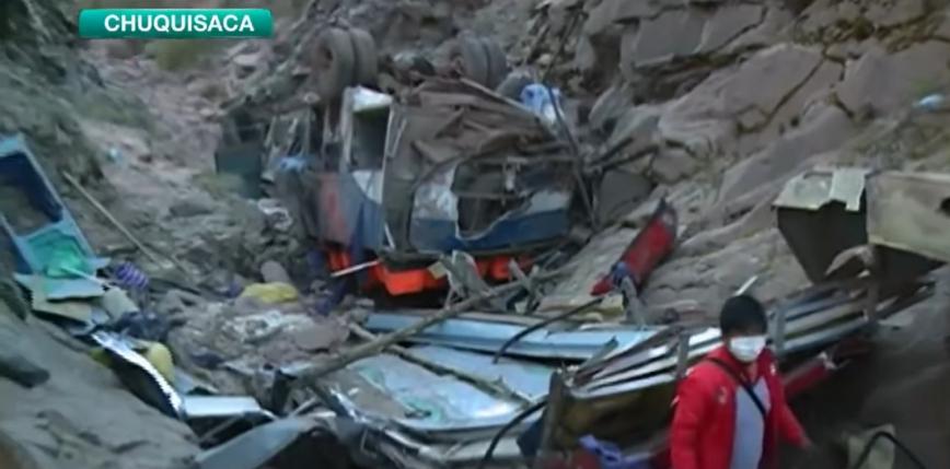 Boliwia: wypadek autokaru. Co najmniej 34 ofiary
