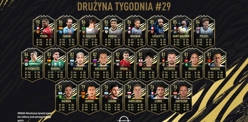 FIFA 21: Polak w najnowszej Drużynie Tygodnia!