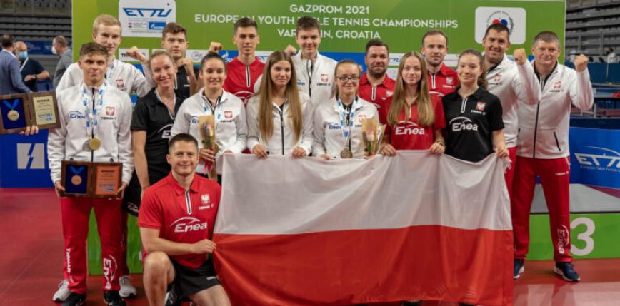 Tenis stołowy: worek medali polskiej młodzieży na Mistrzostwach Europy