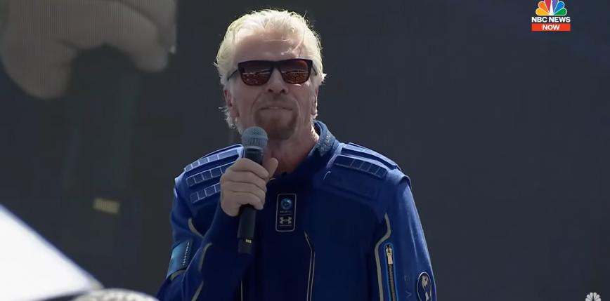 Richard Branson odbył lot na granicę przestrzeni kosmicznej