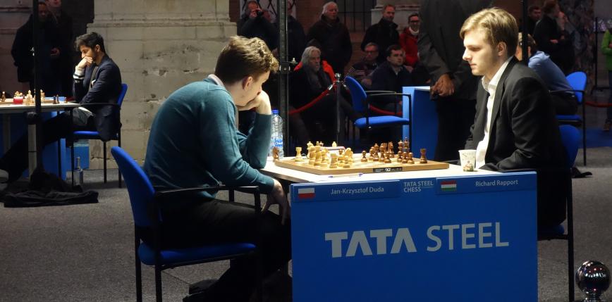 Szachy: remisy Polaków w czwartym dniu Tata Steel Chess