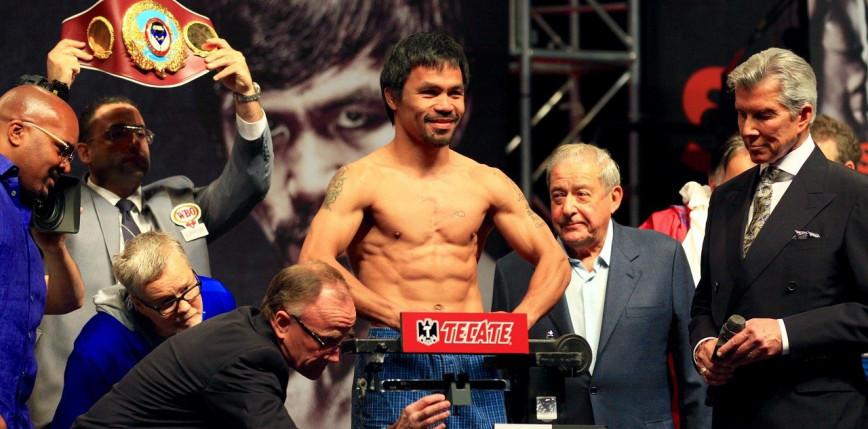 Boks: już w sobotę powrót na ring Manny'ego Pacquiao!