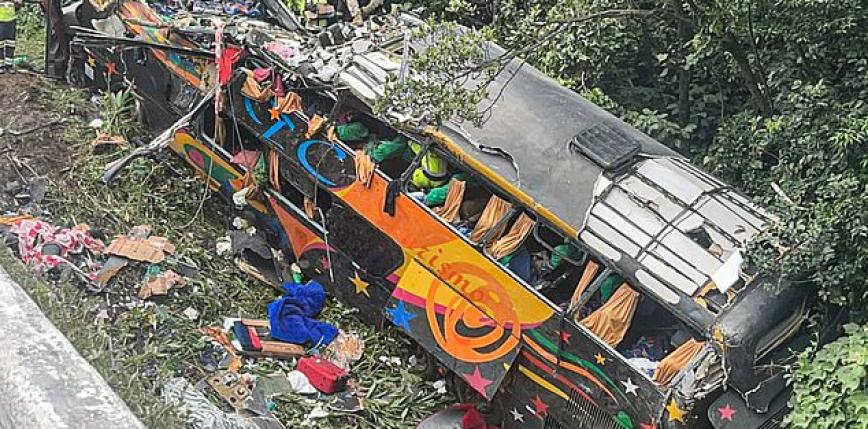 Brazylia: wypadek autokaru. 19 osób nie żyje, 33 rannych