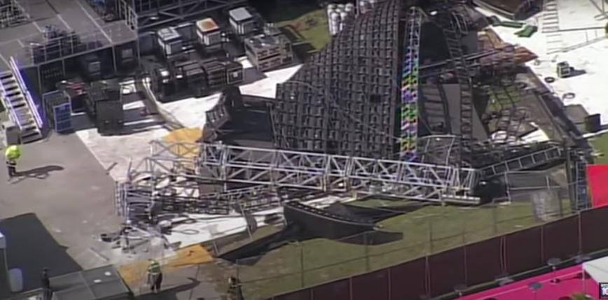 Gigantyczny ekran zawalił się podczas przygotowań do festiwalu Rolling Loud